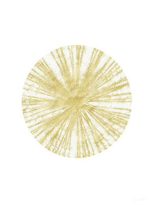 Scandinavian Painting - Spinning Gold Ball Art By Linda Woods by Linda Woods