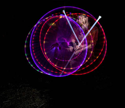 Photograph - Spinning Light At The Ocf by John Higby