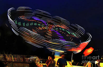 Photograph - Spinning Lights by Kaye Menner