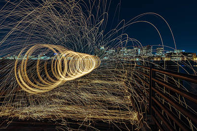 Spinning Sparks Art Print