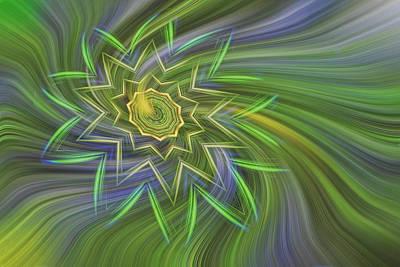 Spinning Star Art Print by Linda Phelps