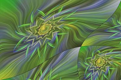 Spinning Star Tiles Art Print by Linda Phelps