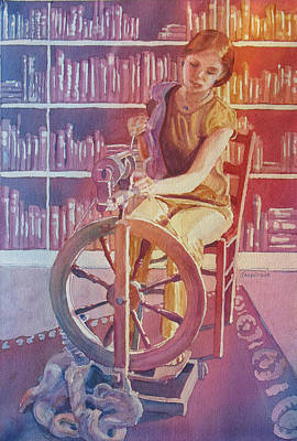 Armitage Painting - Spinning Tales by Jenny Armitage