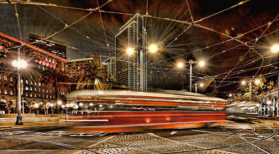 Art Print featuring the photograph Spinning Trolley Car by Steve Siri