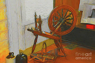 Photograph - Spinning Wheel 10618 by Ray Shrewsberry
