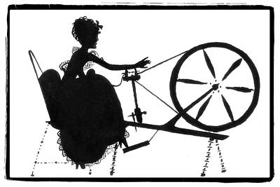 Drawing - Spinning Wheel by Patricia Montgomery