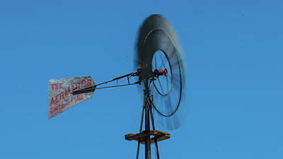Photograph - Spinning Windmill Belmont Nevada by Lawrence S Richardson Jr