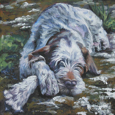 Spinone Wall Art - Painting - Spinone Italiano by Lee Ann Shepard