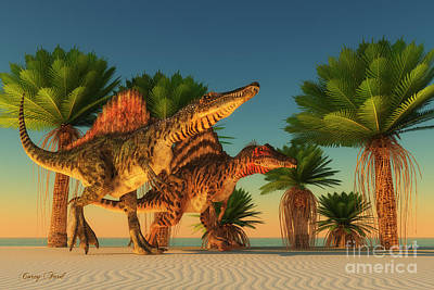 Thunder Painting - Spinosaurus Walking by Corey Ford