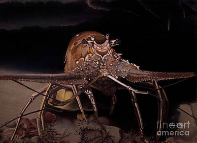 Painting - Spiny Lobster by Alan Feldmesser