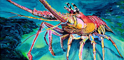 Spiny Painting - Spiny Lobster by Kevin Lancaster