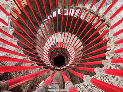 Photograph - An Interesting Double Helix Spiral Staircase. by Usha Peddamatham