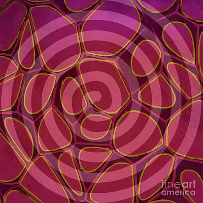 Geometric Artwork Painting - Spiral 2 - Abstract Painting by Edward Fielding