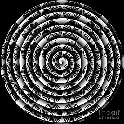 Digital Art - Spiral Abstract 2 by Barbara Moignard