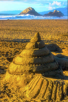 Photograph - Spiral Sandcastle by Garry Gay