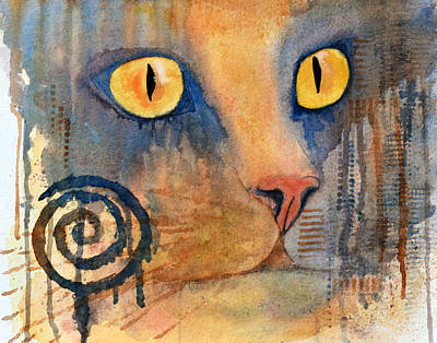 Drippy Painting - Spiral Cat Series - Returned by Moon Stumpp