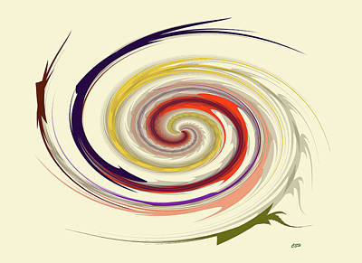 Digital Art - Spiral by Cathy Harper