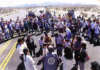 Photograph - Spiral Dance At The Test Site With Author Star Hawk  by Alma