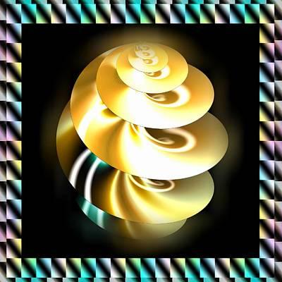 Digital Art - Spiral Drill by Mario Carini