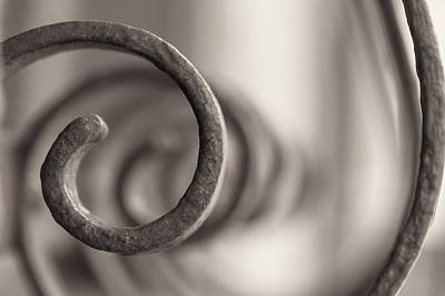 Photograph - Spiral Frame Sepia by Jonathan Nguyen