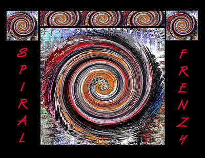 Frenzy Photograph - Spiral Frenzy Poster by Marian Bell