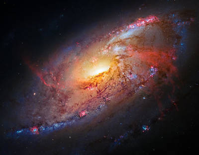 Photograph - Spiral Galaxy M106 by Marco Oliveira