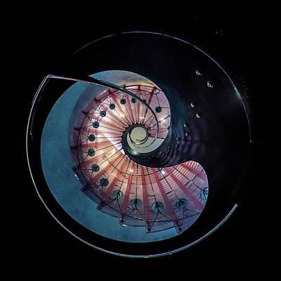 Photograph - Spiral Glass Staircase by Jaroslaw Blaminsky
