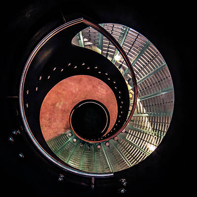 Photograph - Spiral Glass Stairs by Jaroslaw Blaminsky