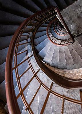 Photograph - Spiral Metal Staircase by Jaroslaw Blaminsky