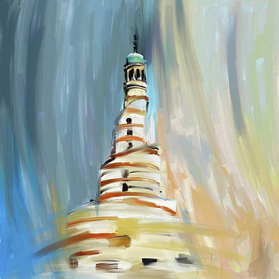 Painting - Spiral Minaret 675 1 by Mawra Tahreem