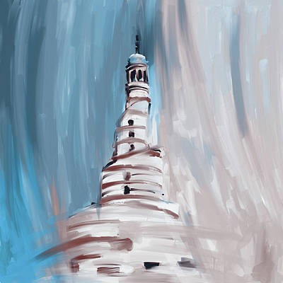 Painting - Spiral Minaret 675 3 by Mawra Tahreem