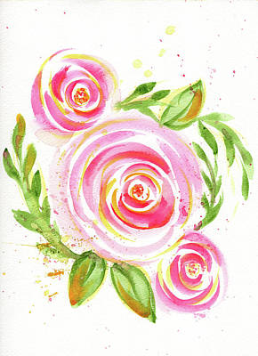 Drawing - Spiral Pinks  by Nada Meeks