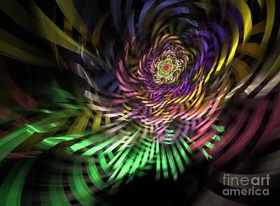 Generative Mixed Media - Spiral Rainbow by Deborah Benoit
