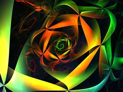 Digital Art - Spiral Ribbons by Nancy Pauling