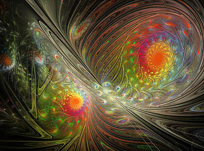 Fractal Other Worlds Digital Art - Spiral Space by Mary Raven