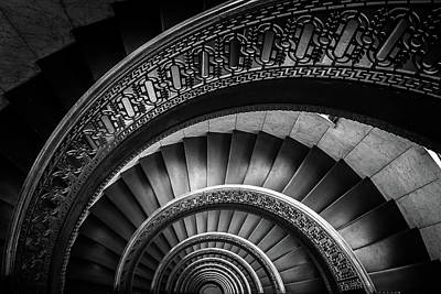 Spiral Staircase Bw Art Print by John Duffy