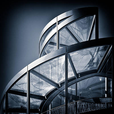 Metal Photograph - Spiral Staircase by Dave Bowman