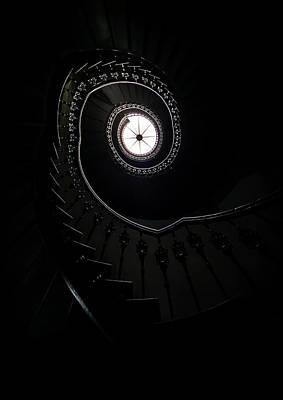 Nice House Photograph - Spiral Staircase In An Old Mansion by Jaroslaw Blaminsky