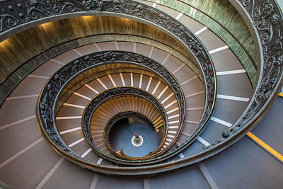 Photograph - Spiral Staircase In St. Peter's Basilica by John McGraw