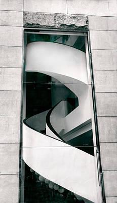 Limestone Digital Art - Spiral Staircase by Jessica Jenney