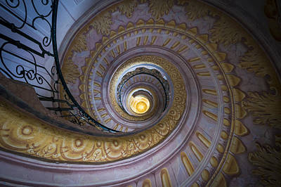 Photograph - Spiral Staircase Melk Abbey IIi by Van Sutherland