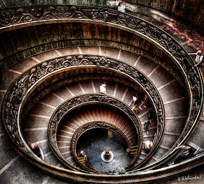 Photograph - Spiral Staircase No2 by Weston Westmoreland