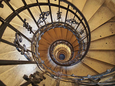 Spiral Staircase - St Stephens - Budapest  Print by Philip Openshaw
