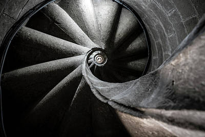 Photograph - Spiral Staircase To The Tower Of The Baeza Cathedral by RicardMN Photography