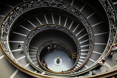 Photograph - Spiral Staircase - Vatican Museum by Daniel Hagerman