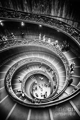 Photograph - Spiral Staircase Vertical by Stefano Senise