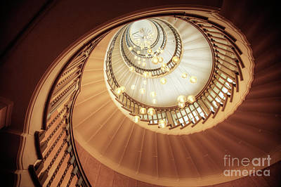 Spiral Stairs Art Print by Martin Williams
