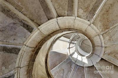 Spiral Stairway Art Print by Carlos Caetano