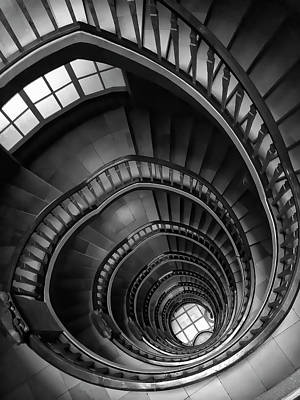 Mixed Media - Spiral Stairway by Daniel Hagerman