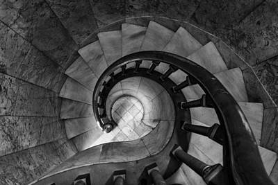 Photograph - Spiral Stairwell by Melinda Martin
